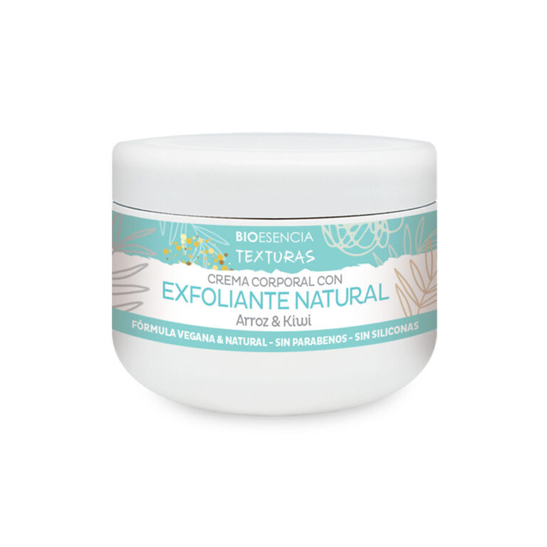 Crema exfoliante natural Texturas de Arroz y Kiwi